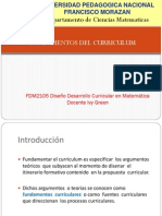 Fundamentos y Fuentes Del Curriculum