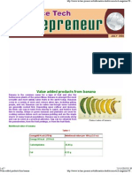 Banana Value Added Products From b.