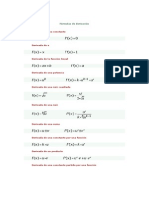Formulas de Derivacion