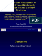 Rosuvastatina disminuye la incidencia de nefropatía por contraste en pacientes con síndrome coronarios agudos que reciben estrategia invasiva precoz