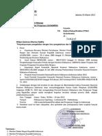 Surat Suskapin Untuk Rektor