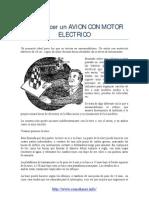 Avion Con Motor Electrico