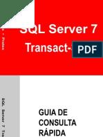 Guia de consulta rápida SQL    Server 7 TransactSQL