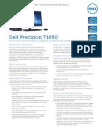 Dell Precision t1650 Specsheet