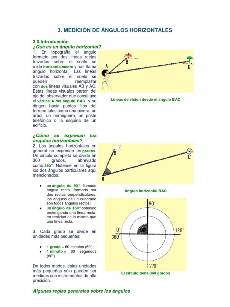 3. MEDICIÓN DE ÁNGULOS HORIZONTALES