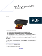 Resetear Eprom de La Impresora Ip2700