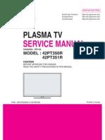 LG PLASMA TV 42pt350r-Td  Service Manual
