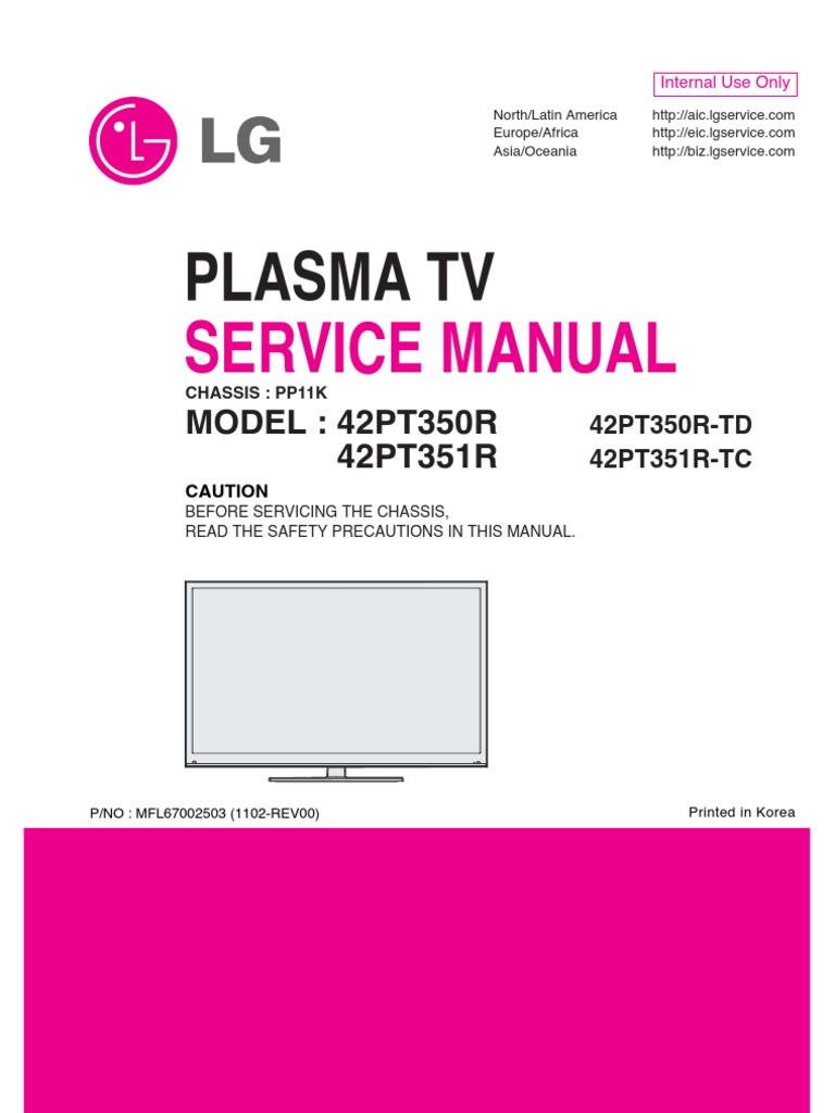 Lg Plasma Tv 42pt350r