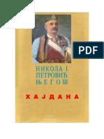 Nikola I Petrović Njegoš - Hajdana