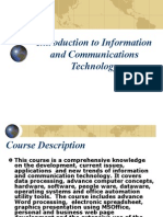 Introduction to Information and Communications Technology