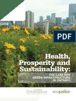 Health, Prosperity and Sustainability