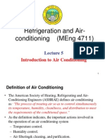 Lecture 5. Introduction to Air-Conditioning