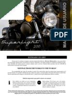 Manual Usuario Keeway Superlight Dark 200 Cc (Idioma Castellano)