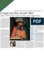 Il sogno del Libro di tutti i libri. PIETRO CITATI su «L'impronta dell'editore» di Calasso - Il Corriere della Sera 15.03.2013