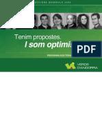 Programa electoral dels Verds d'Andorra