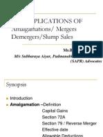Tax implications of Amalgamations /  Mergers / Demergers / Slump sales