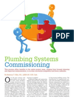 Plumbing Systems- Commissioning
