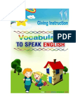 Let's Speaking English, Speaking 11, Giving Instruction