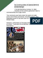 US - Australia Coverup Was Al Qaeda Behind the 2002 Bali Bombing