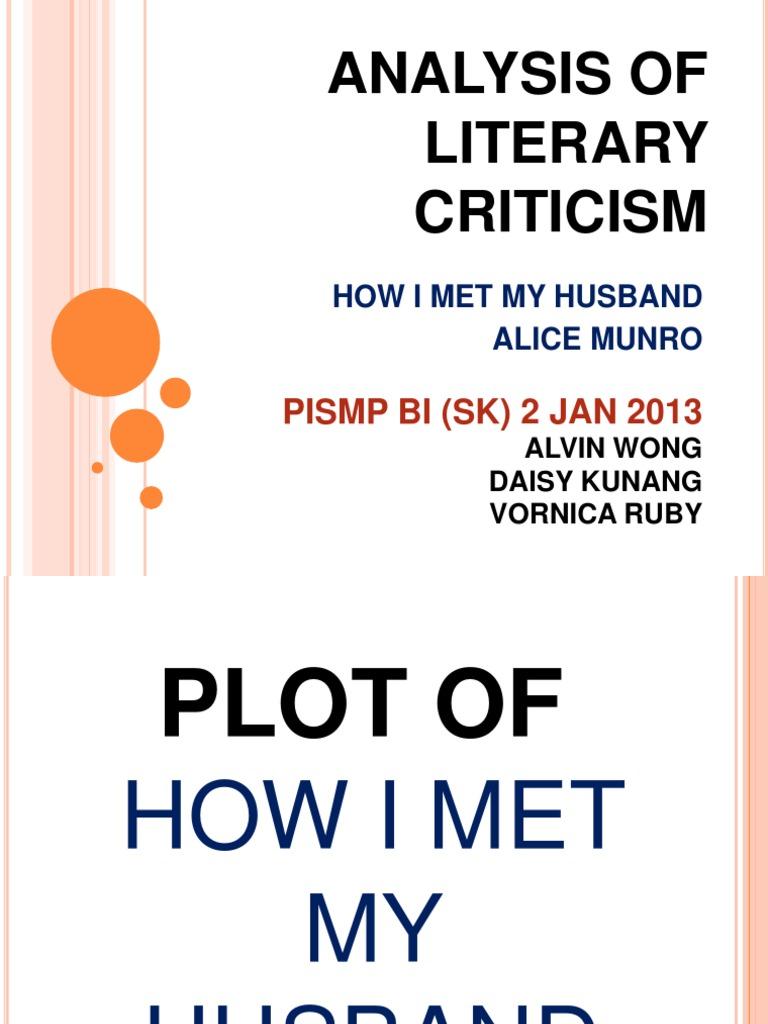 how i met my husband analysis