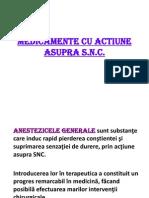 Medicamente Cu Actiune Asupra Snc