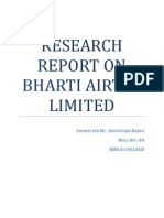 Research Report on Bharti Airtel Limited.