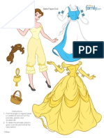 Princess Belle Paper Doll Printable 0511