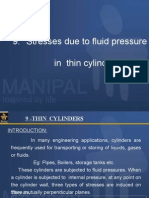 9. Stresses Due to Fluid Pressure in Thin Cylinders [EngineeringDuniya.com]