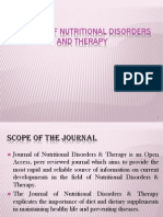 Journal of Nutritional Disorders & Therapy