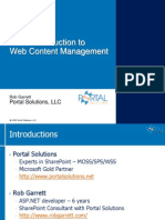 Introduction to WCM in SharePoint