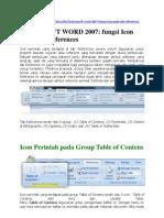 Makalah  TIK Fungsi Tab References pada Ms. Word 2007
