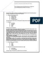 Sample Paper Program Co-Ordination Officer
