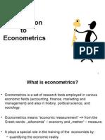 C1.Introduction to Eco No Metrics