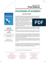 """The Enigma of Numbers"" Press Release"