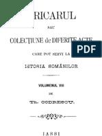 Th. Codrescu - Uricarul, Vol 08 (1370-1860)