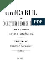 Th. Codrescu - Uricarul, Vol 09 (1445-1887)