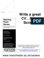 Writing a Great CV From Scratch