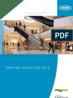 Tarifas Alquiler Tennant 2013 - Fregadoras y barredoras de alto rendimiento