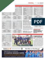 Publicación de las clasificaciones de las ligas Futbolcity en Superdeporte. Miércoles 13 de marzo 2013