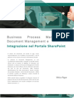 Integrazione Document Management e Business Process Managemement nel portale SharePoint