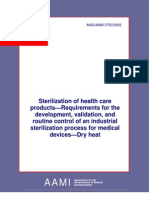 ANSI AAMI ST63 2002 - Sterilization of Healthcare Products - Dry Heat