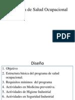 Estructura Básica de un Programa de Salud Ocupacional