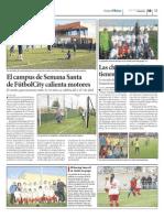 Campus Semana Santa en Futbolcity