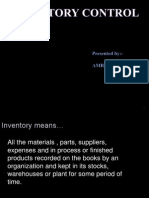 30349245 Inventory Control Final Ppt