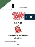 Publicitatea Si Promovarea Vanzarilor - Kit Kat
