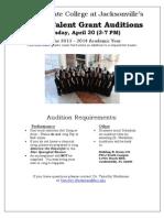 Fscj Talent Grant Info 2013-2014 Choral