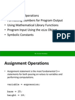 Assignment Formatting and Interactive Input