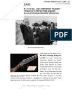"Gavin Gardiner Ltd To Sell Highly Important ""Russian"" Purdey Presented To British Prime Minister Harold Macmillan By Russian President Krushchev At Sotheby's On April 1"
