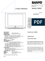 Sanyo C29FS51 Chassis LB6-A Service Manual