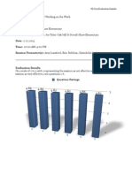 Professional Development Evaluation Feedback